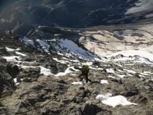 Sur l'arête du Hornli, sous Solvayhutte, un abri de secours perché à 4000m
