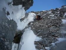 Neige pulvéruletet et bouchon de neige nous ont obligés à grimper pour de bon!