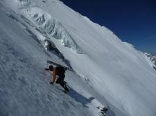 Benoit rencontre un peu de glace au pied des Italiens