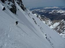 Benoit se lâche sur une neige difficile