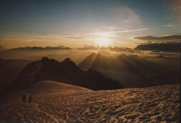 Glacier du Tabuchet au petit matin